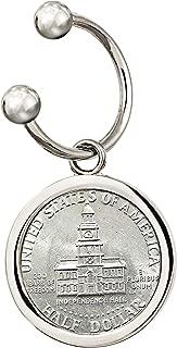 Keychain JFK Bicentennial Half Dollar Coin   Genuine United States Bicentennial Independence Hall Key Chain   Men's Accessories - American Coin Treasures