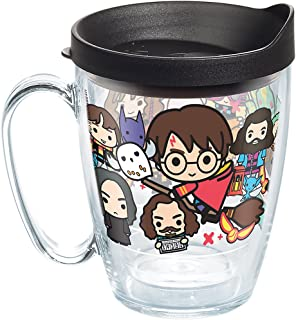 Tervis Harry Potter - Group Charms Tumbler with Wrap and Black Lid 16oz Mug, Clear