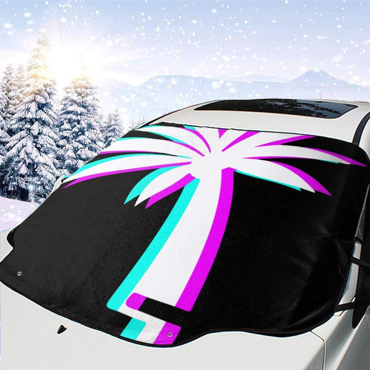 Palm Tree Auto Sun Shade for Cute Car Popular brand Max 82% OFF in the world Sunsha Foldable Windshield