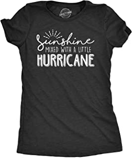 Womens Sunshine Mixed with A Little Hurricane Tshirt Cute Sarcastic Tee for Ladies