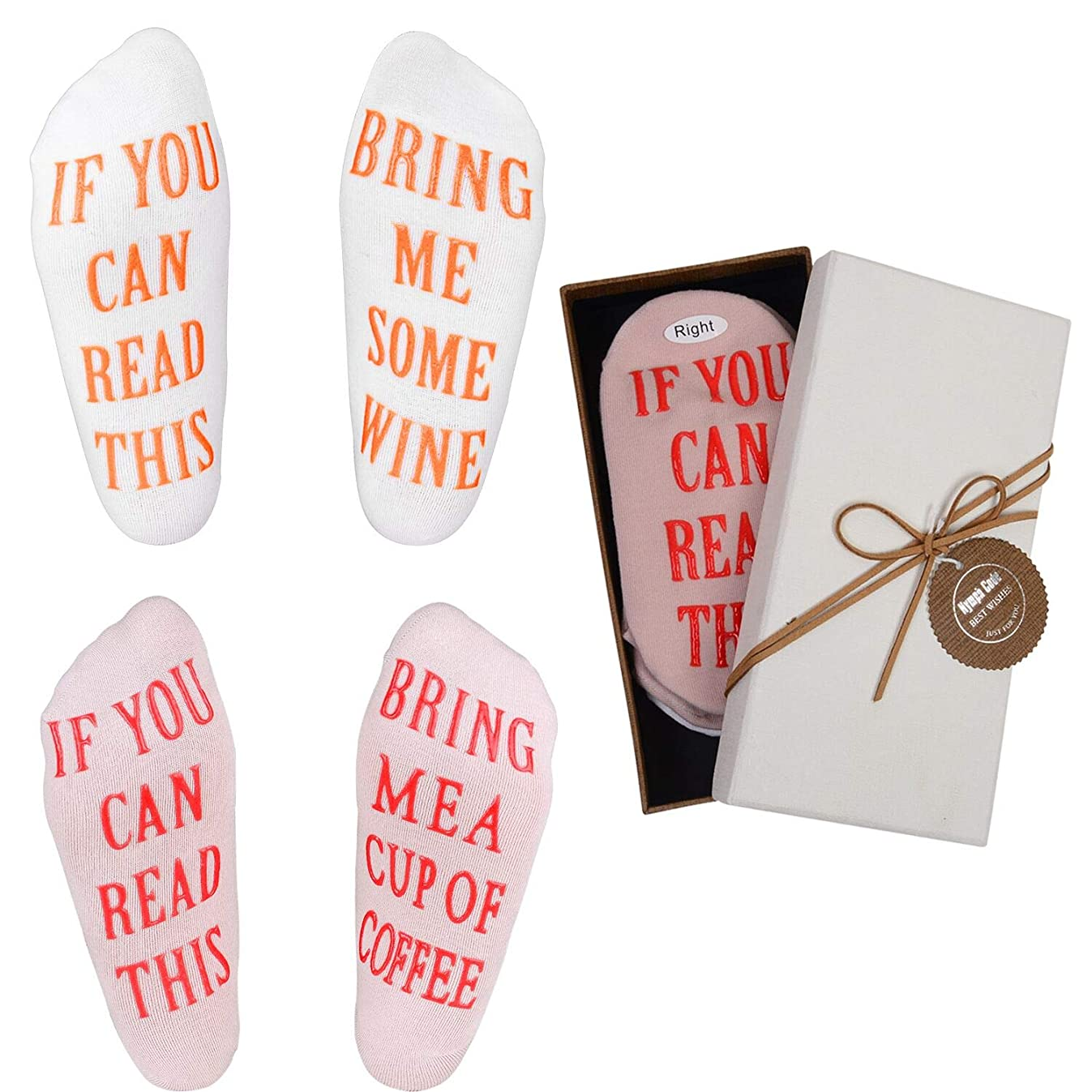 Wine Socks - Funny Wine Gifts with Gift Box