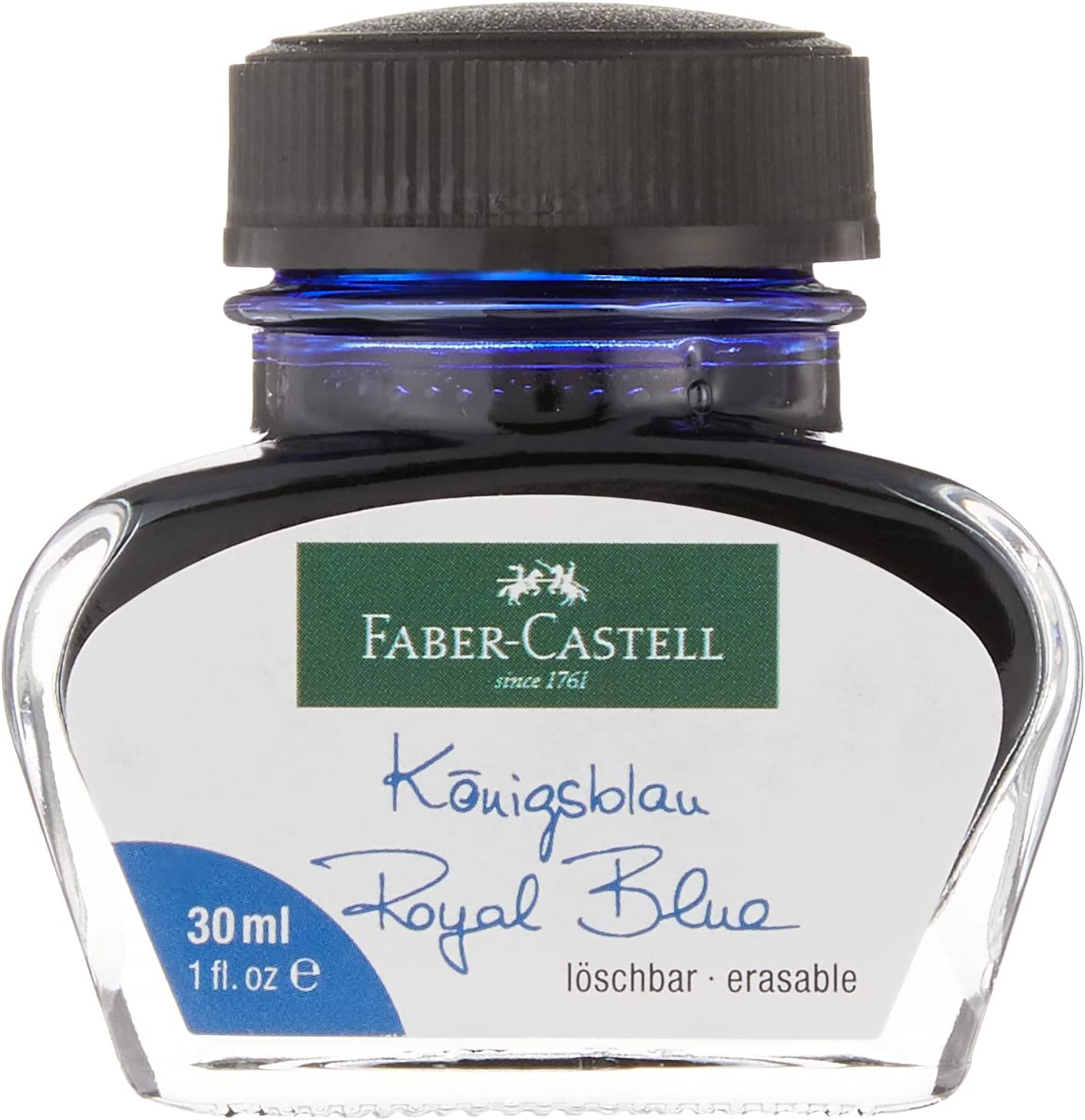 overseas Faber-Castell 149839Ink Bottle Washable 30ml Charlotte Mall Blue Royal