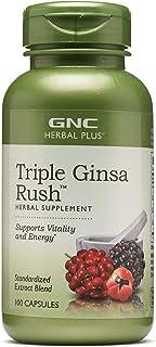 GNC Herbal Plus Triple Ginsa Rush, 100 Capsules, Supports Vitality and Energy