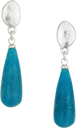 The Sak Elongated Stone Drop Earrings