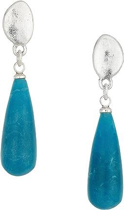 Elongated Stone Drop Earrings