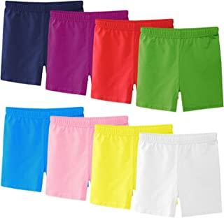Ruisita 8 Pack Girls Shorts Girls Under Dress Girls Dance and Bike Shorts Breathable and Safety