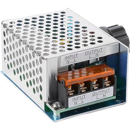 Toogoo 4000 Watt 220 V Ac Scr Spannungsregler Dimmer Elektromotor Speed Temperaturregler Fuer Warmwasserbereiter Kleine Motoren Baumarkt