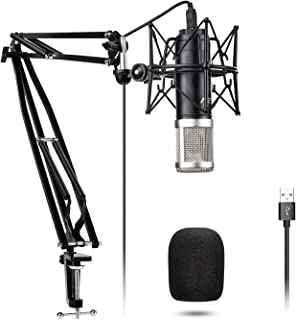 Condenser Microphone VeGue USB Recording Mic Kit with 24mm Diaphragm, Professional Sound Chipse, 192kHz/24Bit Plug & Play for Podcast, Game, YouTube, PC Karaoke, Voice Over