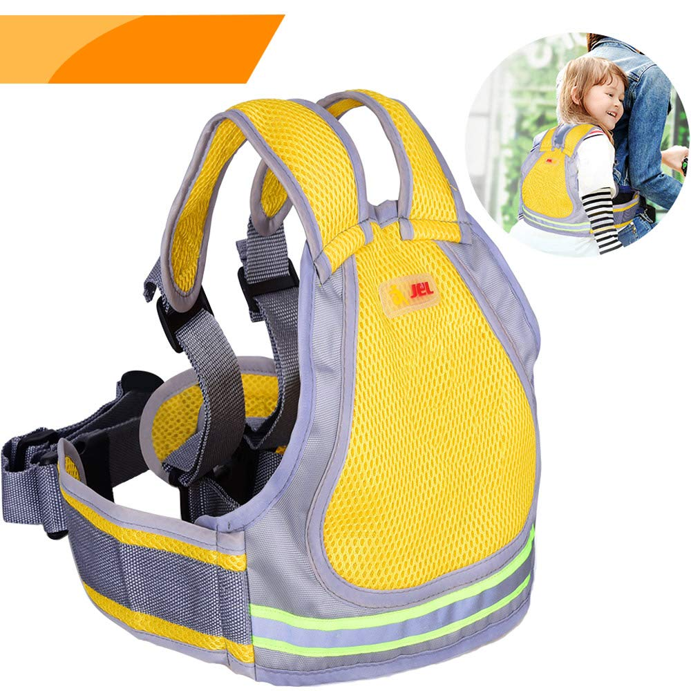 Jolik Child Motorcycle Safety Harness with 4 – in – 1 Buckle Breathable Material in Yellow