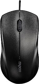 ماوس بصري سلكي لا يصدر صوت من رابوو – أسود، N1200