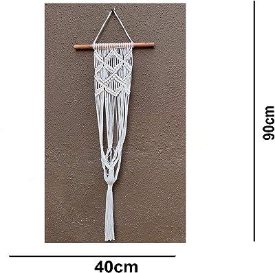VAH- Kya Bat Hai !! Macrame Plant Hangers Indoor Outdoor Hanging Planter Cotton Rope Flower Pot Holder Boho Hippie Style , White, Medium (VAHPH018)