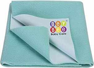 Beybee Quick Dry Bed Protector Waterproof Baby Cot Sheet - Small (Sea Green)