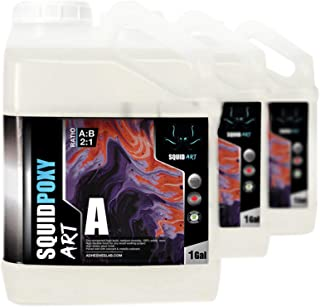 Squid-Art | 3 Gallons (11.35L) | High Quality Epoxy Resin Kit | Non-Toxic | Ultra Super Gloss Coating | Deep Casting River...