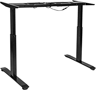 Seville Classics AIRLIFT S2 Electric Height-Adjustable Standing Desk (BASE ONLY) ONLY), Black