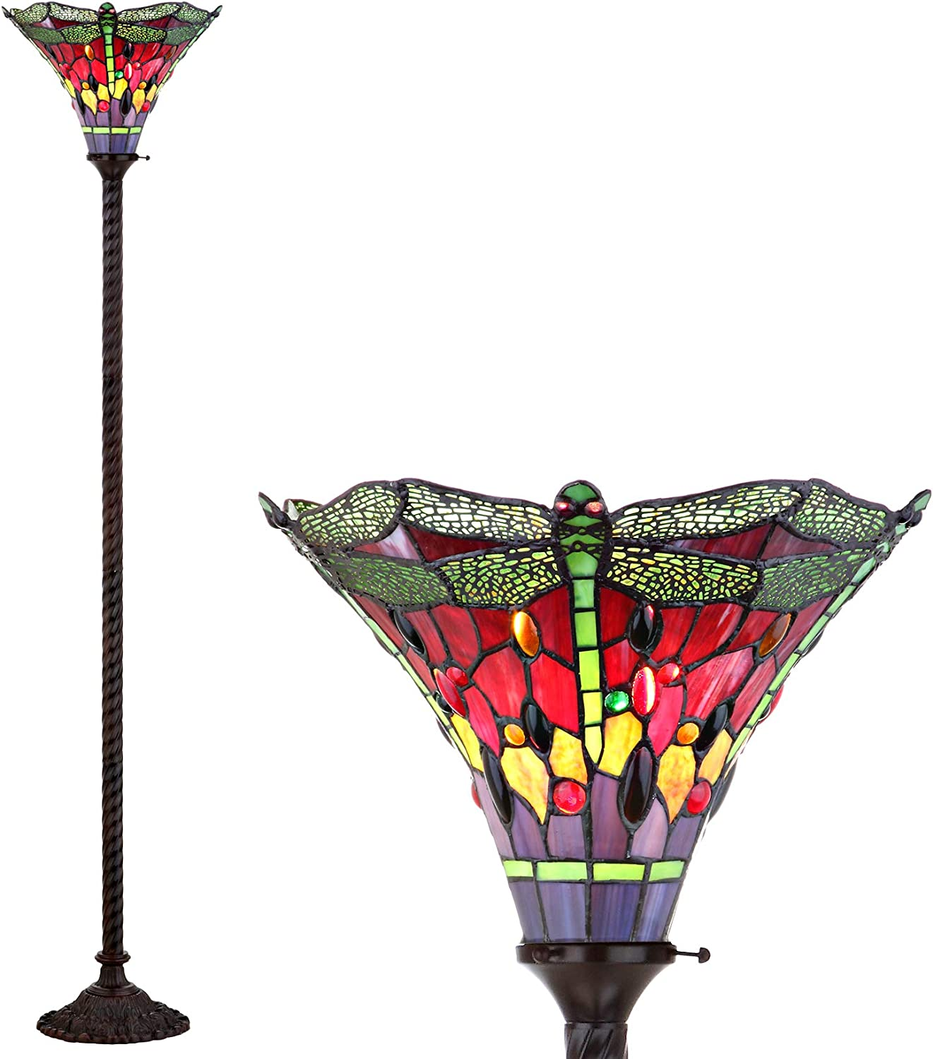 JONATHAN Y JYL8002B Inexpensive Store Dragonfly Style Torchiere Ti Floor 71