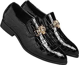 Santimon Loafers Men Italian Alligator Patent Leather Fashion Slip-on Shoes Smoking Slipper Moccasins