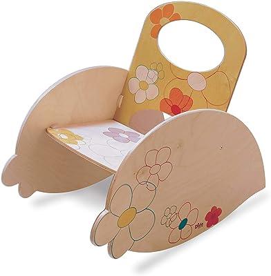 Dida - Chaise a Bascule Enfant - - décoration Florale – Meubles pour Enfants à meubler la Chambre