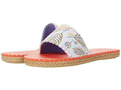 Sea Star Beachwear Cabana Slide (Trefle Palm Print) Women