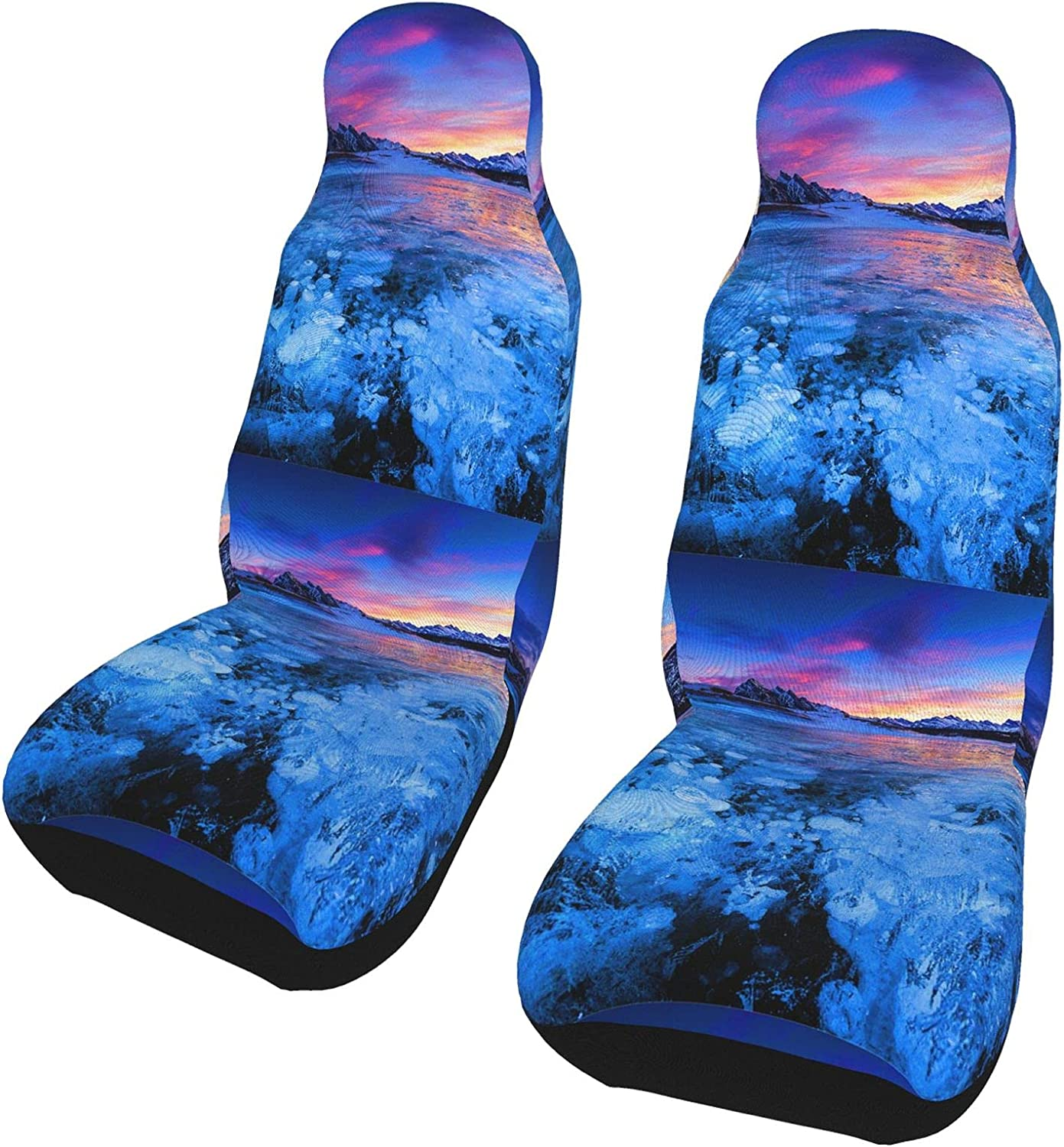 REDDATES Blue Ice Frozen Lake Minneapolis Sale SALE% OFF Mall Car Front Pro Seat Cover Seats
