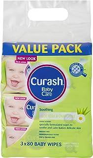 Curash Aloe Vera & Chamomile Baby Wipes 3x80PK