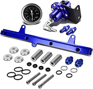 For Nissan S13 SR20 Swapped Top Feed Fuel Injector Rail Kit+Fuel Pressure Regulator (Blue)