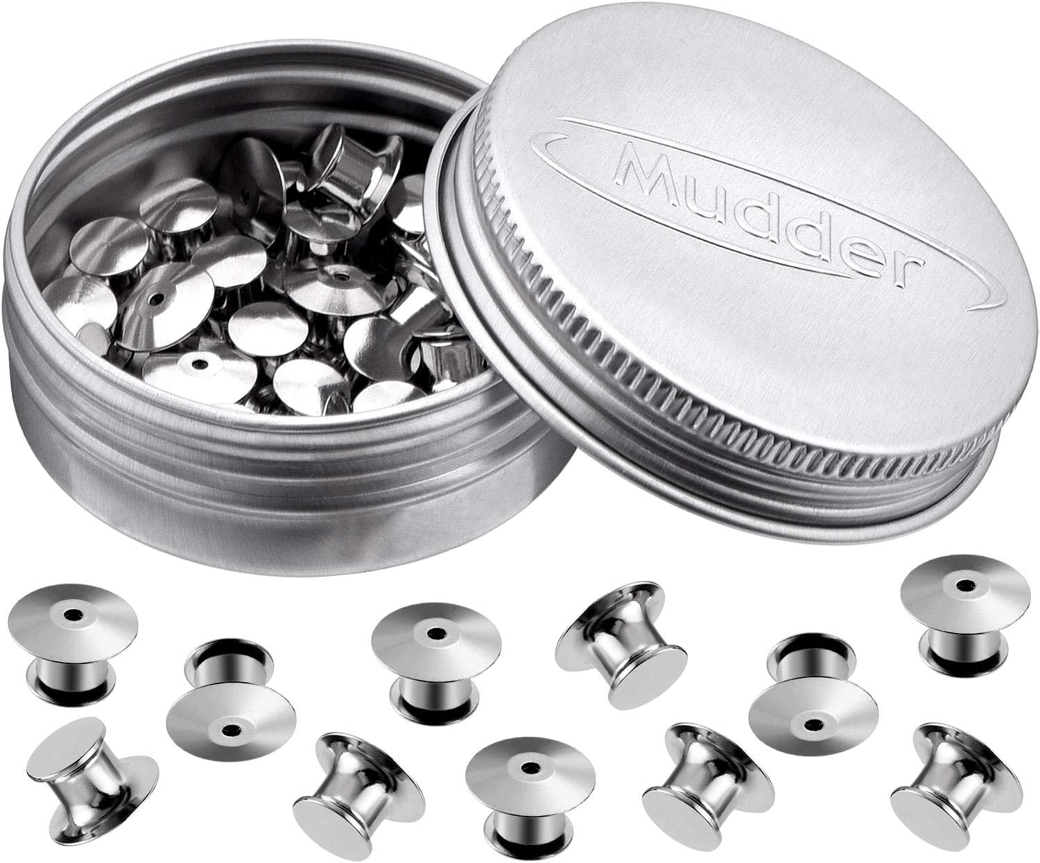 Max 88% Tampa Mall OFF Mudder Locking Pin Keepers Backs No P 30 Required Tool Silver