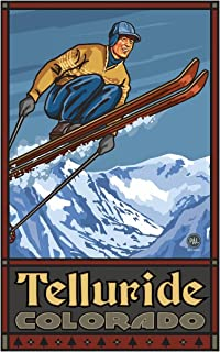 Telluride Colorado Ski Jumper Travel Art Print Poster by Paul A. Lanquist (12