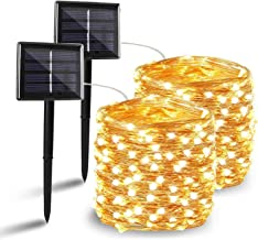 BHCLIGHT 2 Pack Each 72FT 200LED Solar String Lights, Upgraded Super Durable Solar Lights Outdoor, Waterproof Copper Wire ...