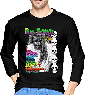 Long Sleeve Slim Fit Round Neck Rob Zombie T-Shirts