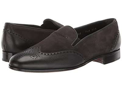 Gravati Wingtip Loafer (Black/Grey Calf/Suede) Women
