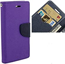 Dr2s fashion Retail Luxury Mercury Magnetic Lock Diary Wallet Style Flip Cover Case for HTC One X9 - Purple