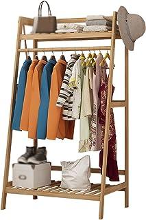 cintre HAIYU- Porte-Manteau, Grande Capacité, Porte-vêtements, Armoire de Chambre à Coucher en Bois Massif avec étagères d...