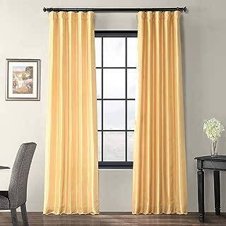 PTCH-JTSP15-84 Faux Silk Taffeta Curtain, Soft Gold, 50 x 84