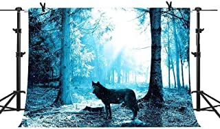 MME 7x5Ft Blue Forest Wolf Background Children Photography Video Studio Photograph Backdrop XCME149