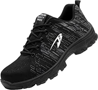 Zapatillas de Seguridad Hombre Zapatos de Mujer Antideslizante Transpirable Zapatos de Trabajo Calzado de Trabajo Ultra Li...