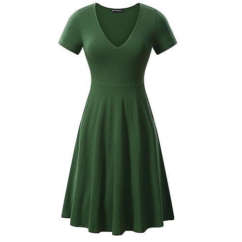 97bc1746ce Green Skater Dress  Amazon.com
