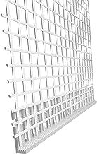 100 m afsluitprofiel 3 mm PVC met weefsel pleisterwerk afwerkingsprofiel elk 2,0 m