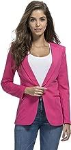 JHVYF Womens Casual Basic Work Office Blazer Open Front Boyfriend Jacket Suit