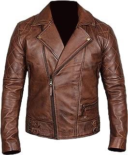 Asymetrical Biker Jacket Men's - Vintage Retro Motorcycle Genuine Lambskin Leather Jacket