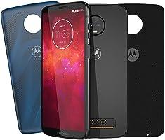 [Kit Especial Amazon] Smartphone Motorola Moto Z3 Play 128GB Ônix + 2 Moto Snap Style Shells Cores Flow e Nylon
