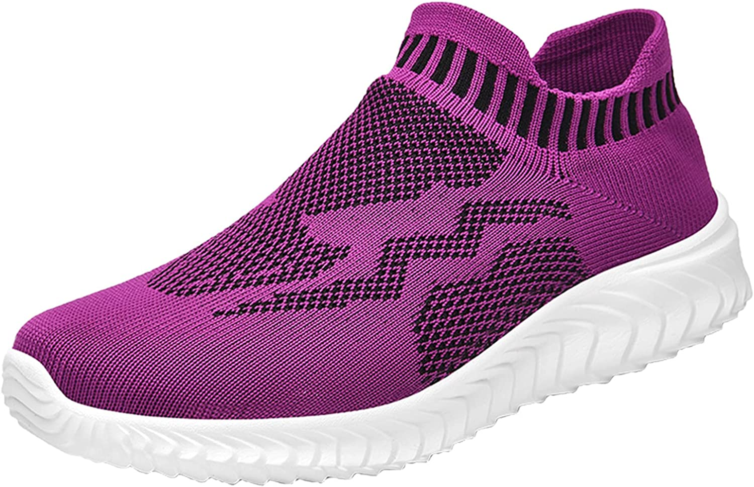 FADK Womens Slip On Sneakers Mesh Breathable Comfortable Casual Walking Shoes
