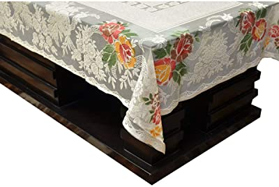 Kuber Industries Cotton Centre Table Cover Set - Cream
