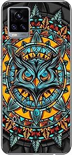 Shopezzz Bazaar Angry Owl 3D Printed Hard Mobile Back Cover Case for Vivo V20