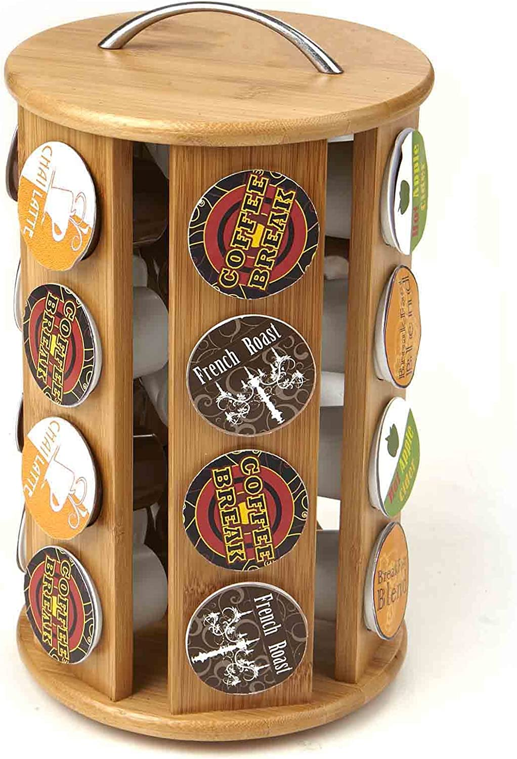 Mind Reader Bamboo Coffee Pod Free Shipping Cheap Bargain Gift Holder of Count Carousel 1 Pack specialty shop