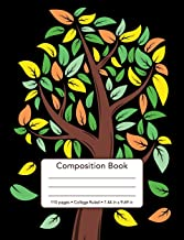 Composition Book - 110 Pages - College Ruled - 7.44 in x 9.69 in: Fall Tree Cover Design - Back To School Notebook Blank Lined Standard Comp For ... Design Cover Design Composition Book Series)