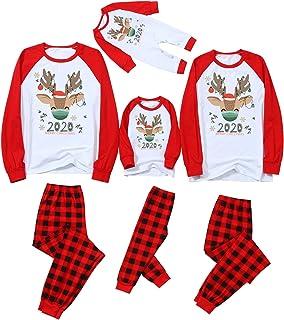 Pijamas De Navidad Familia Conjunto Mujer Hombre Niños Camisetas De Manga Larga Sudadera Chándal Familia Conjunto 1tops+1pants