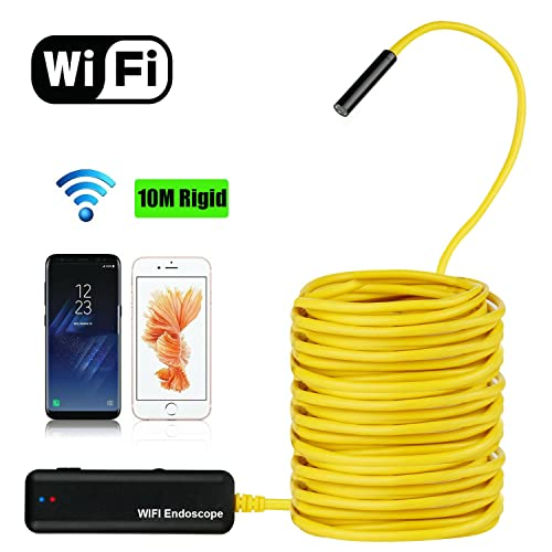 TR Turn Raise 10M Cámara de Inspección WiFi Endoscopio Impermeable HD 2mp Inalámbrico con 6 Luces