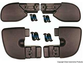 DirectAuto Set of 4 Bumper End Caps Front & Rear Left & Right Fits 1997-2006 Jeep Wrangler