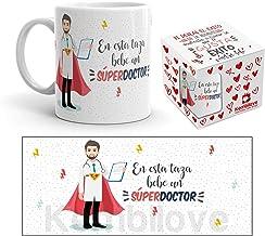 Kembilove Taza de Café En Esta Taza Bebe un Súper Doctor – Taza de Desayuno para la Oficina – Taza de Café y Té para Profesionales – Taza Impresa para Doctores superhéroes