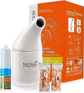 Natural Solution Organic Personal Care Travel Gift Set 2 Items   Nasal Inhaler and Ceramic Salt Inhaler